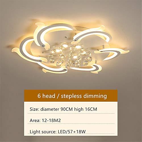 LED acryl plafondlampen Moderne eenvoudige woonkamer kristallen lichten creatief romantische warme ronde slaapkamer plafondlamp sfeerverlichting huis licht luxe lampen