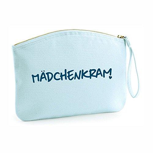 Kosmetiktasche Mädchenkram - Kulturbeutel - Etui - Schminktasche - Kulturtasche - Make-up Case - Frauen - Mädchen - Mädchenkram - Krims-Krams - rosa oder hellblau - Schminketui (hellblau)