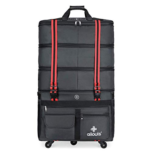 ailouis Expandable Extra Large Wheeled Travel Duffel Luggage Bag 36 Inch