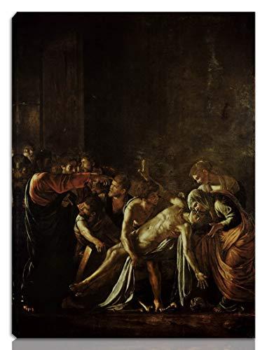 Berkin Arts Caravaggio Estirado Giclee Imprimir en Lienzo-Pinturas Famosas Arte Fino Póster-Reproducción Decoración de Pared Listo para Colgar(La resurrección de Lázaro)#NK