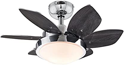 Westinghouse Lighting 7863100 Quince 24-Inch Chrome Indoor Ceiling Fan, Light Kit with Opal Frosted Glass