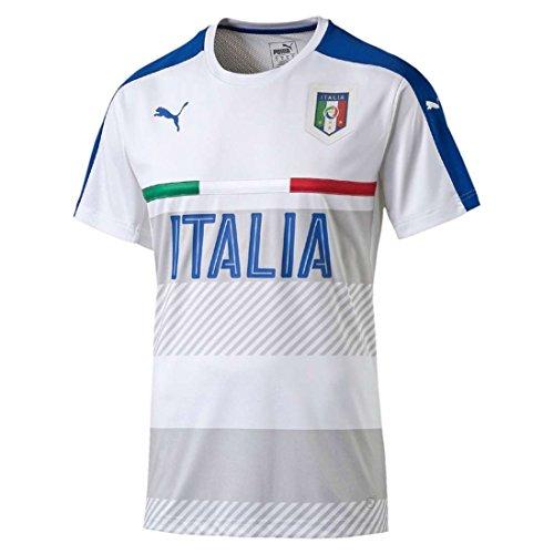 PUMA Herren Trikot FIGC Italia Training Jersey, White/Team Power Blue, L