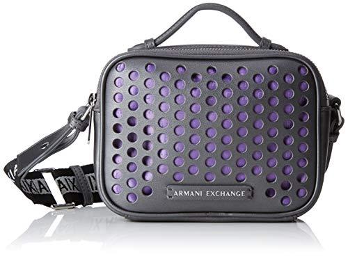ARMANI EXCHANGE Small Crossbody Bag - Borse a tracolla Donna, Grigio (Grey), 13.5x7x18 cm (B x H T)