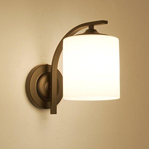 Appliques murales LED Lampe de chevet chambre en fer forgé lampe murale lampe chambre d'hôtel 5W lampe de lecture Allée Lampes (Couleur : Blanc)