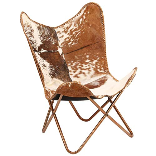Tidyard Vintage Butterfly Chair Handmade Leather Chair Genuine Goat Leather...