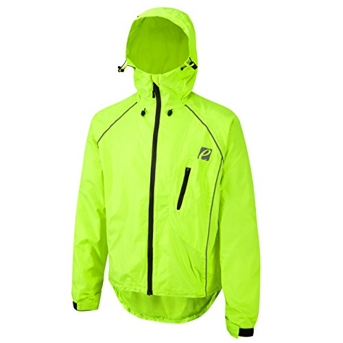 Elite Cycling Project Storm 2 - Chaqueta de Ciclismo Impermeable para Hombre, Hombre, Color Hi Vis, tamaño Medium