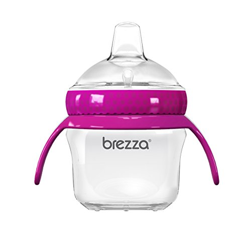 Baby Brezza Transition Sippy Cup with Handles - Leak & Spill Proof -...