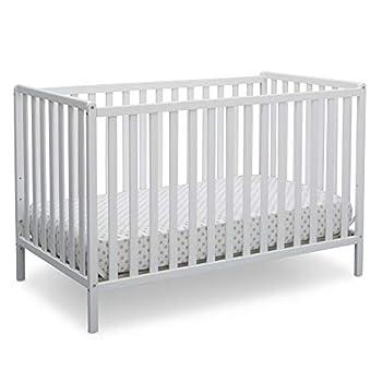 Delta Children Heartland 4-in-1 Convertible Crib Bianca White