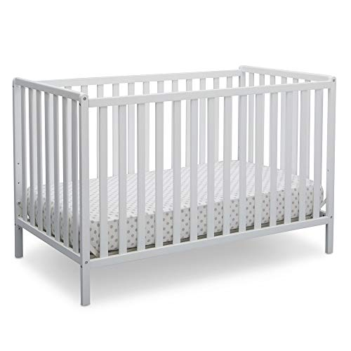 Delta Children Heartland 4-in-1 Convertible Crib, Bianca White