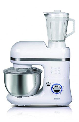 Silva-Homeline KM 6500 Küchenmaschine mit Mixaufsatz, 6 Leistungsstufen, weiß