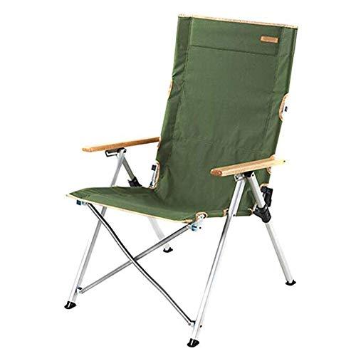 Yuzhijie Silla plegable de aluminio (Amano) para camping de playa, color verde