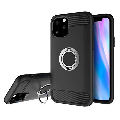 Olixar iPhone 11 Pro Ring Case - Vinger Loop - Stevig Beschermend Ontwerp - Ingebouwde Media Kijkstandaard - ArmaRing - Zwart