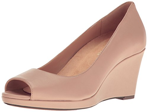 Naturalizer Women's Olivia Wedge Pump, Taupe, 4.5 M US