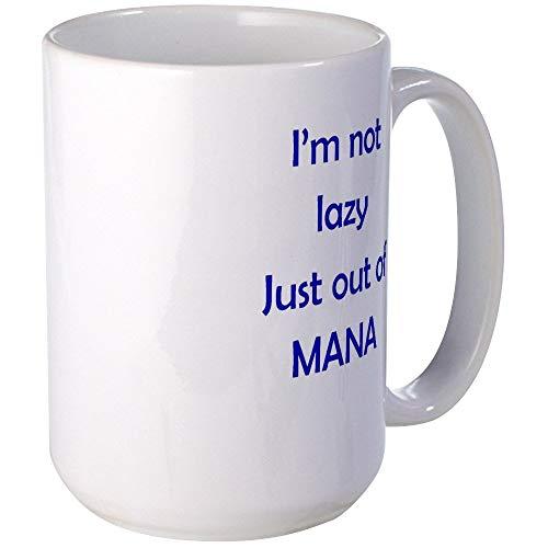 N\A Aus Mana Tassen Kaffeetasse, groß 11oz. Weiße Kaffeetasse