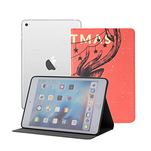 iPad Mini 1/2/3 Case - 360 Degree Rotating Stand Smart Cover Case with Auto Sleep Wake Feature,Christmas New Year Design Greeting Card