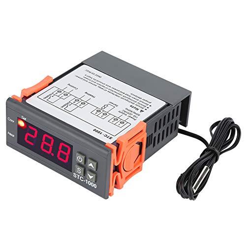 STC-1000 Digitaler Temperaturregler -50 ℃ ~ 99 ℃ Alarm Intelligente Thermostat LED mit Sensor AC110V-220V