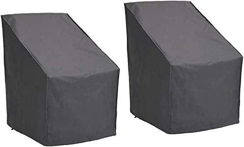 Patio Watcher 2 High Back Patio Chair Cover, Durable and Waterproof Out Furniture Chair Cover,Grey
