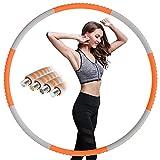 Aoweika Aro de fitness para adultos para pérdida de peso, 1 kg, núcleo interior mejorado de acero...