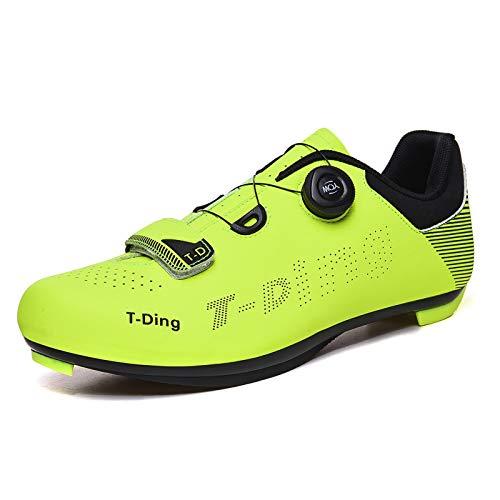 Aupast Zapatos de Ciclismo Unisex Zapatillas de Bicicleta de Montaña Antideslizante Transpirable Zapatillas de Bicicleta de Carretera y Montaña