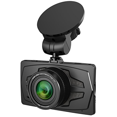 Camera de tableau de bord de voiture 2K Super HD 1296P Pluto de la marque AMPULLA avec grand angle de 170° - Ecran LCD 3\