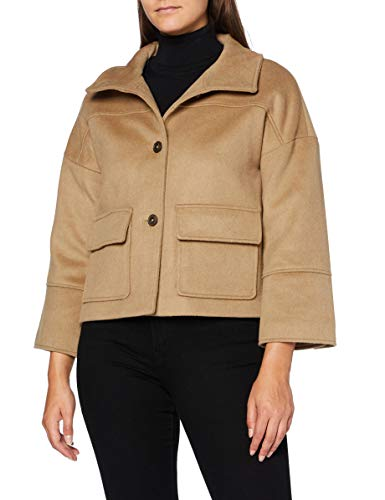 GANT Damen D1. Wool Blend Cropped Jacket Jacke, WARM Khaki, M