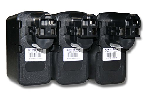 vhbw 3x Batería recargable reemplaza Bosch 2 607 335 055 para herramientas eléctricas (3000 mAh NiMH 12 V)