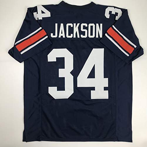 Unsigned Bo Jackson Auburn Blue Custom Stitched College Football Jersey Size Men's XL New No Brands/Logos