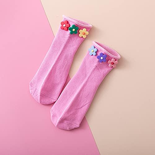 GYHJG Verano Estilo Hyuna Flor Pequeña Calcetines para Mujer Ins Tendencia Estudiante Color Caramelo Dulce Rizado Calcetines Cortos para Botes 10 Pares De Lotes