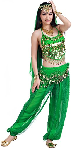 Women Belly Dance Halloween Carnival India Dance Outfit Accessories 5 Colors