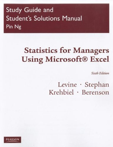 Statistics for Managers: Using Microsoft Excel