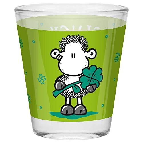 Sheepworld - 46626 - Schnapsglas, Glas, Gluck Gluck glücklich, 6cm