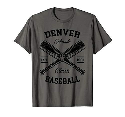 Denver Baseball, Classic Vintage Colorado Retro Fans Gift T-Shirt