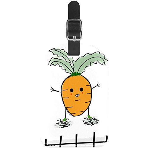 Gepäckanhänger Cartoon-Karotten-Leder, Reise-Etiketten, 1 Packungen
