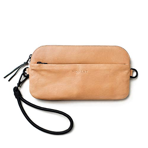 Moment - Wristlet Wrist Strap for iPhone, Wallet, and Lenses - Premium Natural American Leather