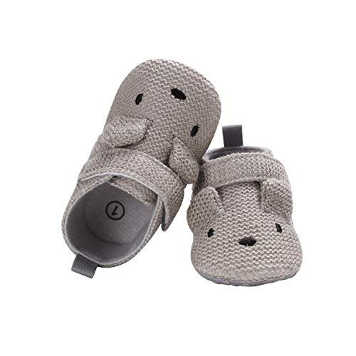 DEBAIJIA Baby Schuhe Baumwolltuch Material Kleinkind Schuhe Anti-Rutsch Tiere Muster Mode Lässig Prewalker Schuhe Geeignet für 6-36 Monate Säuglings Sportliche Trainer Unisex Klettverschluss