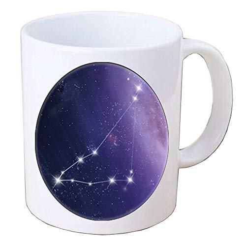 Constelación joyería Capricornio Zodíaco Taza de café Peralized Mug Zodiac taza s regalo de la joyería del zodiaco signo del zodiaco Astrología Taza de café, TAP374