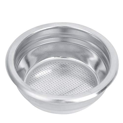 Filtry do kawy ze stali nierdzewnej, 58 mm wielokrotnego użytku filtr do kawy PortaFilter kosz pod ciśnieniem siatkowy kosz ekspres do kawy części zamienne (podwójna osoba)
