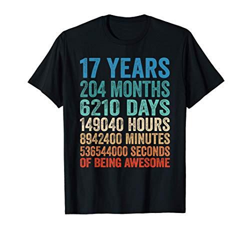 17 Años Cumpleaños Regalo Para Adolescente Niño Vintage 2004 Camiseta