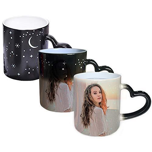 DEABOLAR Tazze da caffè con Foto Personalizzate, Tazze per Cambiare Colore Magico Tazze Personalizzate con Foto, Testo, Nome Tazza di (Coppa Dipinta)
