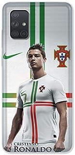 Carcasa para Samsung Galaxy A51 Cristiano Ronaldo, Color Blanco
