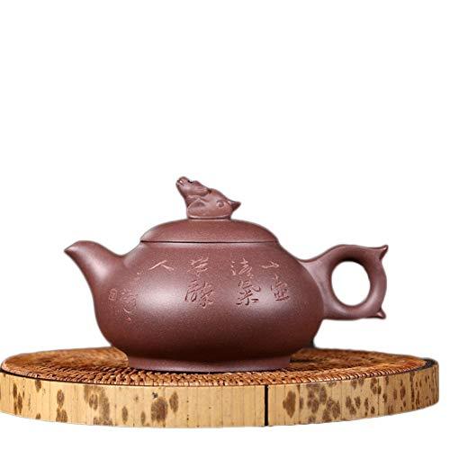 Tea Pot Yixing Teapot Tea cup Fortune Again And Again By Hand Teapot Tea Set Unique Oriental Purple Tea Maker Sand Pot (Color : Purple mud)