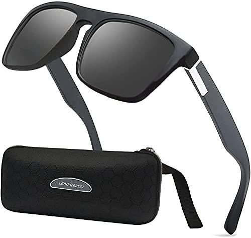 HAOHANYOUPIN Gafas de sol de moda polarizadas para hombres y mujeres, gafas de golf de pesca frescas, gafas de deporte al aire libre, gafas de sol para hombre (color: B/negro #blanco)