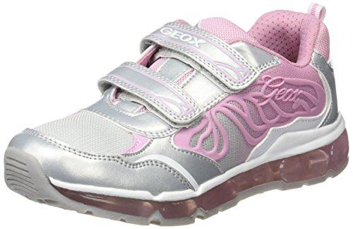 Geox Geox Mädchen J Android Girl A Sneaker, Silber (SILVER/PINKC0566), 33 EU