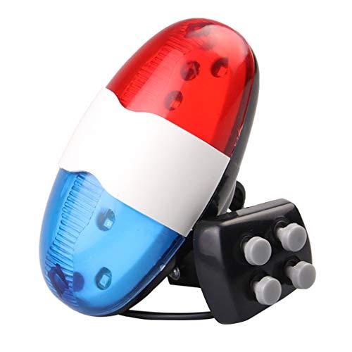 WT-DDJJK Luz Trasera de bocina de Bicicleta, Luces traseras de bocina de Bicicleta súper Brillantes, Sirena de Campana LED Recargable USB a Prueba de Polvo