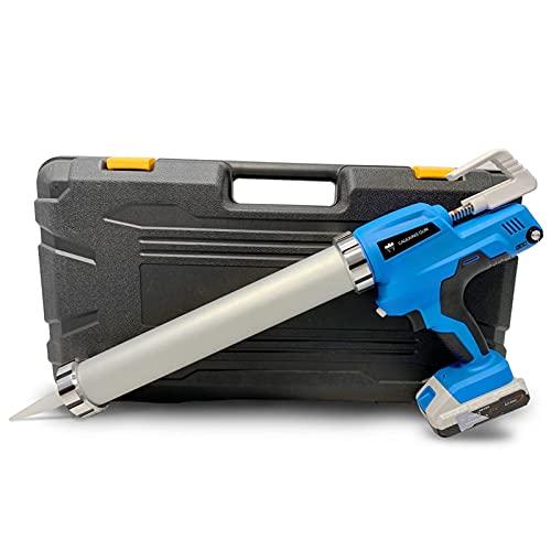SJDC 21V DIY Electric Handheld Glass Hard Rubber Sealant Guns Tool,Electric Cordless Caulking Gun with Li-Batteries