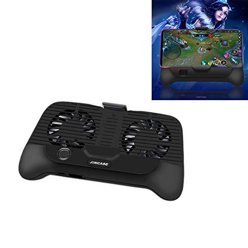 QYGGG Gamepad multifunctionele mobiele telefoon koeler winnaar kip gamepad mobiele telefoon powerbank (zwart) joystick spel, zwart