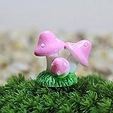 TIANTIAN Miniatur-Gartenfiguren aus Kunstharz, 20 Stück, Rosa