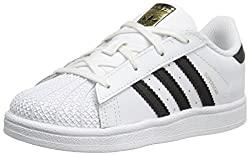 Adidas  Kid's Superstar White, Black Stripe Color - Front View