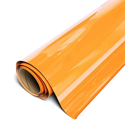 """Siser EasyWeed HTV 11.8"""" x 3ft Roll - Iron on Heat Transfer Vinyl (Fluorescent Orange)"""