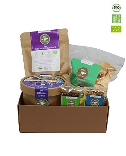 eat Performance® Schreibtisch Helfer Geschenkkorb (6 Artikel + Box) - Bio, Paleo, Glutenfrei Aus 100{6b9b98763cc3398cb097eec1e701cb338e2e781c78ea48de5aee6f1b63e62d90} Natürlichen Zutaten